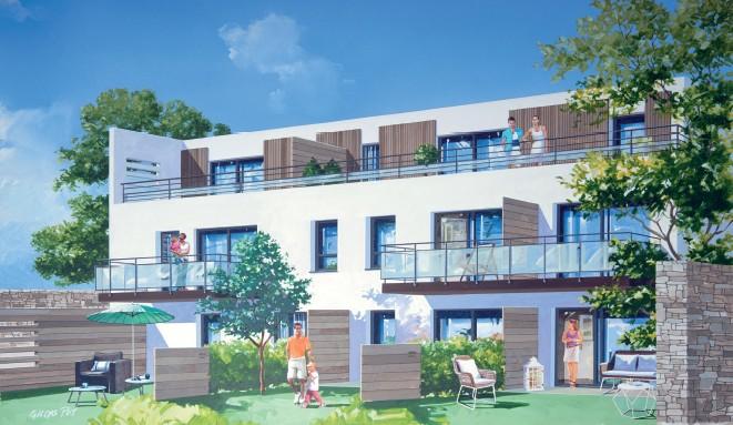 act immo immobilier vefa appartements de standing coeur de vannes. Black Bedroom Furniture Sets. Home Design Ideas
